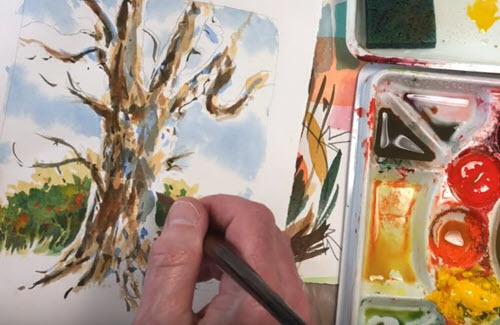 Watercolor basic steps